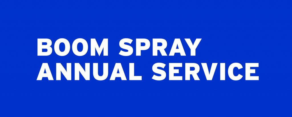 Boom spray annual service